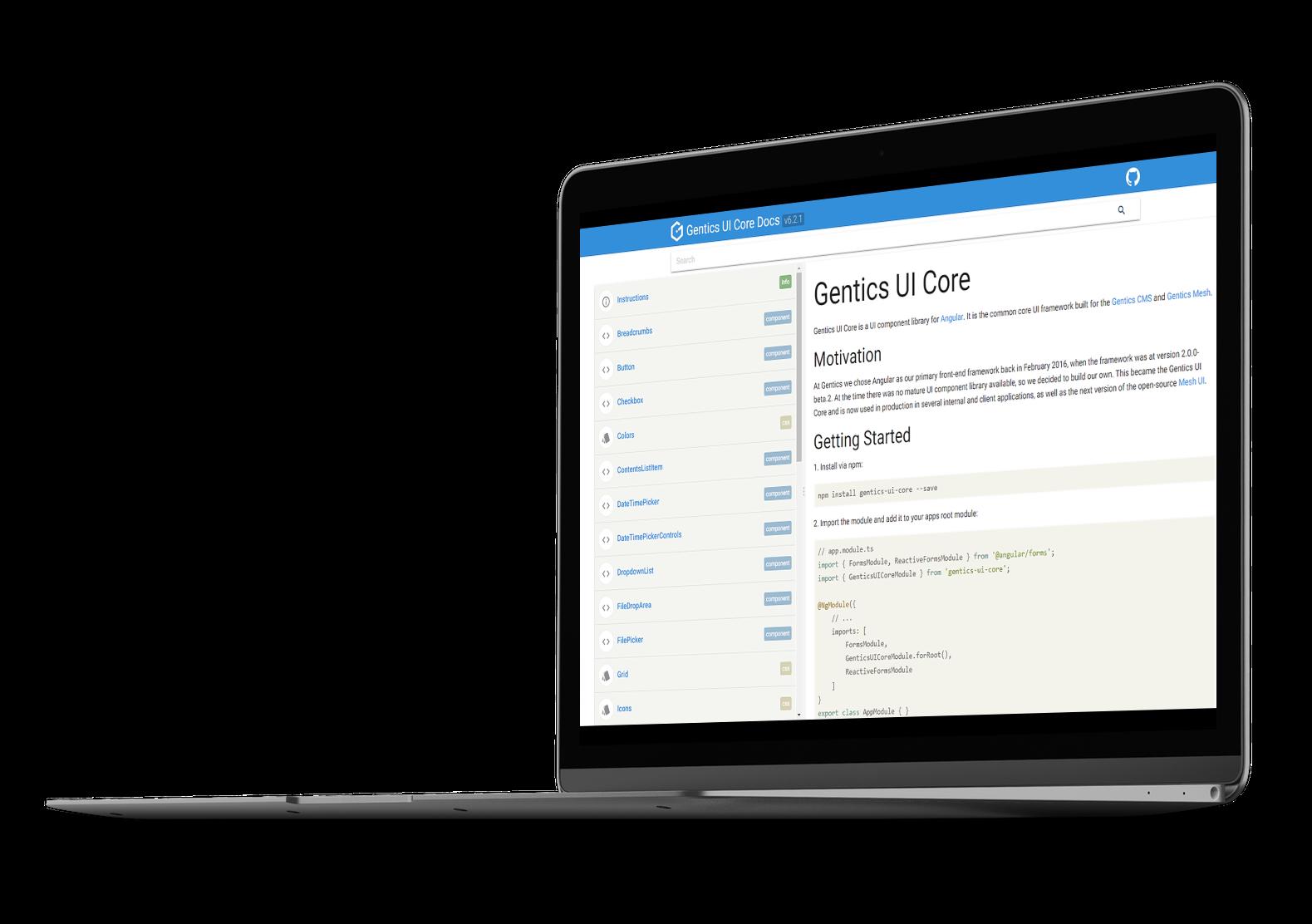Interface Framework - Gentics UI Core